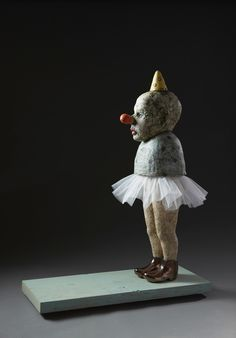 Tom Bartel, balerina, ceramic, mixed media, 2011