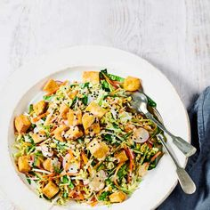 Try our smoked tofu salad recipe with sesame dressing and veg. This easy vegan salad recipe with smoked tofu is an easy tofu salad recipe with vegetables Easy Salad Recipes, Tofu Recipes, Vegan Dinner Recipes, Vegan Dinners, Vegan Recipes Easy, Vegetable Recipes, Picnic Recipes, Vegan Appetizers, Protein Recipes
