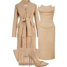 Untitled #2017 by xirix featuring a a line dressZac Posen a line dress, 3 835 AUD / Carven long coat, 1 675 AUD / Jimmy Choo high heel shoes, 740 AUD / CÉLINE leather bag