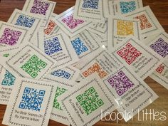 LOVE these!!! 40 Books for $4.00- Listen To Reading QR Codes for your Elementary Listening Center!! www.loopinglittles.blogspot.com