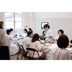 平井かずみさんのスワッグ教室 皆様本当に楽しそうで何よりです by atelier_el
