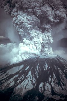 mount saint helens | Mount St Helens Eruption May 18 1980 (USGS -- Austin Post)