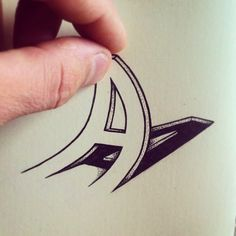 3D Typography Drawings Look Like They're Crossing Over Into Reality