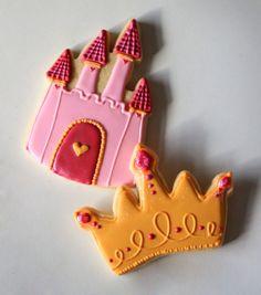 Princess crown and castle