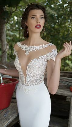 Berta 2015 Bridal Collection...Beautiful details. Ask your dressmaker for detail suggestions that fit your wedding theme. Take 1-3 details & design your unique wedding dress.