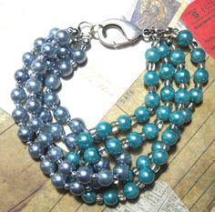 MIXED PEARL BRACELET. Ohhhh, pretty!!!  $16.00.  http://www.etsy.com/listing/125772748/mixed-pearl-bracelet?#