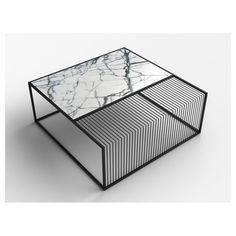 Wilma Marble & Iron Coffee Table | GFURN