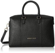 Armani Jeans Eco Saffiano Boston Bag. Damen · Handtaschen · Schwarz  Boston  Tasche ... d54e6525b5