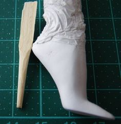 I started the process for making moulds for Sybarite's shoe soles. The first step is to create a master, that is, a model of the sole. I've ...