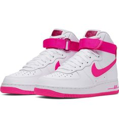 True Berry And Laser Fuchsia Make An Appearance On This Nike Air Force 1 High - Dr Wong - Emporium of Tings. - Women's style: Patterns of sustainability Nike Air Force High, Nike Shoes Air Force, Pink High Tops, High Top Sneakers, Sneakers Nike, High Heels, Hype Shoes, Women's Shoes, White Nikes