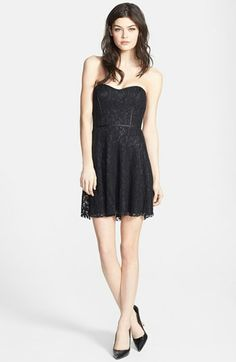 Devlin Strapless Lace Dress available at #Nordstrom -Vegas