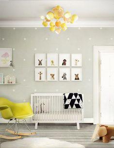 Déco chambre bébé fille et garçon en style scandinave pour un intérieur d'ambiance zen