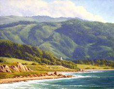 Ralph Waterhouse, Plein Air Oil  Impressionist California Landscape paintings,
