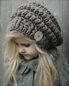 The Velvet Acorn - Heidi May - Isis Slouchy Crochet For Kids, Crochet Baby, Knit Crochet, Crochet Toddler, Loom Knitting, Knitting Patterns, Crochet Patterns, Crochet Beanie, Knitted Hats