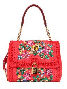 Medium Dolce Embellished Top Handle Bag - Lyst