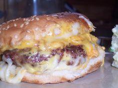 Aunt Kathy's Oven Burgers #sauce #baked #burger #oven #justapinchrecipes Hamburger Recipes, Ground Beef Recipes, Meat Recipes, Cooking Recipes, Hamburger Buns, Steak Sandwich Recipes, Steak Sandwiches, Cookbook Recipes, Sauce Recipes