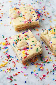 Sprinkled Sugar Cookie Cheesecake Bars