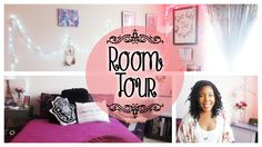 Room Tour 2015 Hey guys, since I'll be off to college in 2 weeks I figured I'd film a room tour before I pack and move out. Stay tuned for a sneak peak at the end. #room #tour #decor #bedroom #home #tumblr #fairy #lights #hipster #dormify #diy #lauroyalty #target #paris #girly #girl #girls #purple #lavender # pink #black #white #lauroyalty