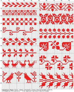 This Pin was discovered by R S Hungarian Embroidery, Folk Embroidery, Learn Embroidery, Cross Stitch Embroidery, Embroidery Patterns, Indian Embroidery, Cross Stitch Borders, Crochet Borders, Cross Stitching