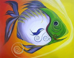 J. Vincent Scarpace, Artist.  Original Abstract Fish Art / Painting. For sale  (artist@ipaintfish.com).  Visit: www.ipaintfish.com