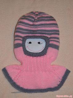 Шапочка-шлемик (моё описание) Baby Hats Knitting, Knitting For Kids, Knitted Hats, All Free Crochet, Knit Crochet, Crochet Hats, Balaclava, Cowl, Caps Hats