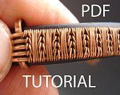 Tutorial wire weaving, pdf tutorial, jewelry tutorial, wire wrapped tutorial, wire tutorial, tutorial in handmade, jewelry lessons, pdf