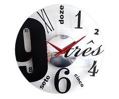 457537bfaf9 Relógio de Parede Babel - 32cm Relógios Vintage
