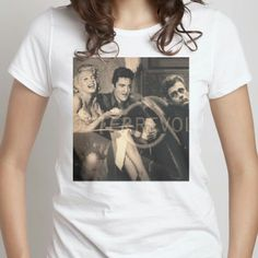 #ClassicHollywood#Elivis#Marilyn#JamesDean#WhiteTshirt made by me at Snaptee app