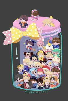 A jar of jimin cute fanart Jimin Fanart, Kpop Fanart, Mochi, Bts Memes, Bts Drawings, Bts Playlist, Bts Chibi, Bts Lockscreen, Bts Pictures