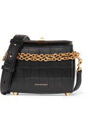Box Bag 19 croc-effect leather shoulder bag
