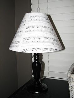 "11 Sheet Music Craft Ideas - you can order the sheet music to ""your song""!"