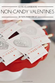 non-food, non-candy valentine's ideas! perfect classroom Valentine's with 20 fun favor pairings - a must pin!