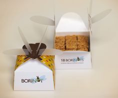 "Insect-inspired packaging for Barcelona's patisserie Borinot, whose name means ""a flying buzzing insect"","