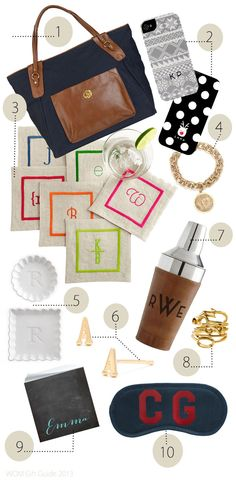 Holiday Gift Guide 2013…Monogrammed MUST Haves