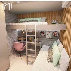 40 + modern and dreamy dorm & bedroom design ideas for you - Page 31 of 44 Dorm design, bedr 40 + modern and dreamy dorm & bedroom design ideas for you - Page 31 of 44 Dorm design, bedroom decor, home design, interior design Room Ideas Bedroom, Teen Room Decor, Small Room Bedroom, Bedroom Beach, Master Bedroom, Bedroom Loft, Space Saving Bedroom, Bedroom Girls, Teen Bed Room Ideas