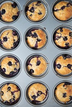 Blueberry Muffins Recipe - no eggs on hand? Try these naturally egg-free, dairy-free vegan muffins - they use just a handful of cheap pantry ingredients and blueberries, of course!