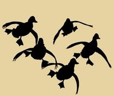 Cupped Duck Window Decal x Decal Duck Hunting Tattoos, Duck Tattoos, Tribal Tattoos, Hunting Decal, Hunting Art, Hunting Dogs, Hunting Cakes, Duck Silhouette, Silhouette Cutter