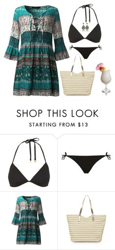 """""""Beach style"""" by mari-marishka ❤ liked on Polyvore featuring Topshop, Monsoon and TIKI"""