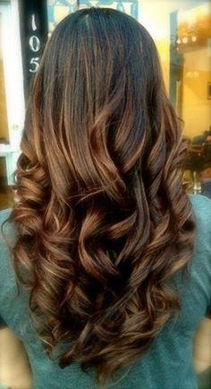 I love her hair hair hair Long Brunette Hair, Brunette Ombre, Dark Brunette, Brunette Color, Great Hair, Hair Dos, Gorgeous Hair, Amazing Hair, Pretty Hairstyles