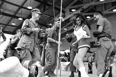 """Rachel Welch at the 1967 """"Bob Hope USO Tour"""""""