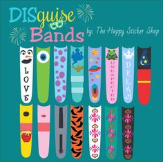 My Favorite Things Collection DISguise Band Vinyl Decal to Decorate Your Theme Park Wrist Band $5.00 USD, ships from NH