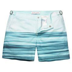 Bulldog - Jon Frank Light Wake Mid-Length Swim Short - Jon Frank (Light Wake)