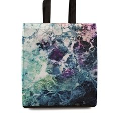 Shopping Tote Bag Marble Texture Purple Green Storage Travel Gym Beach Reusable by DesignsBySiena Etsy Marble Texture, Screen Printing, Reusable Tote Bags, Gym, Trending Outfits, Purple, Storage, Unique Jewelry, Beach