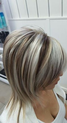Short blonde hair with lowlights