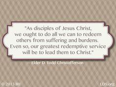 Redemption. Elder D. Todd Christofferson.  The Church of Jesus Christ of Latter-Day Saints.
