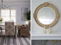 Side by Side: Dining Room and Mirror. FAIRFIELD BEACH - Lynn Morgan Design