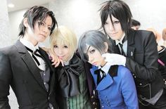 Black Butler- Claude Faustus, Alois Trancy, Ciel Phantomhive, and Sebastian Michealis Cosplay