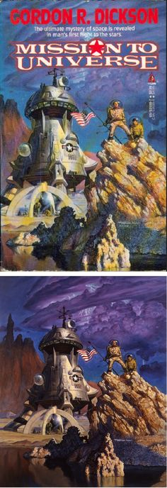 TOM KIDD - Mission to Universe by Gordon R. Dickson - 1988 Tor Books - cover by isfdb - print by behance.net
