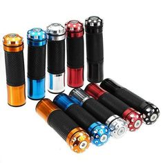 Universal 7/8inch 22mm Motorcycle Handlebar Grips 5 Colors. Description:  these Are The Grips Without The Throttle Place   color: Blue,red,golden,black,silver  anodized Cnc Alloy Aluminum Hand Grips  features Rubber Grips With Cnc Precision Bar Ends  length Of Grips With Bar Ends 130 Mm, Fits All 7/8' Diameter Bars  length Of Grips Without Bar Ends 115 Mm  these Grips Are Universal And Will Fit Almost Any Motorcycles    package Included:  1 X Pair Grips