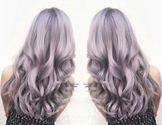 Sliver Purple Hair, Nice granny hair color with beautiful waves~ cannot wait to try